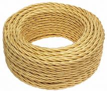 В1-432-079 Bironi Витой провод 2*1,5, «матовый золото» 1 м.