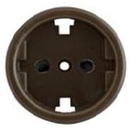 В3-061-22 Bironi Накладка для розетки, коричневый