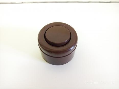 Выключатель 1-кл (проходной), о/у, 10А, ABS, brown (коричневый) С-2016